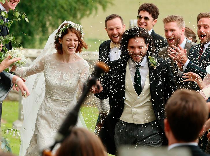 Фото №1 - Свадьба звезд «Игры престолов» Кита Харингтона и Роуз Лесли