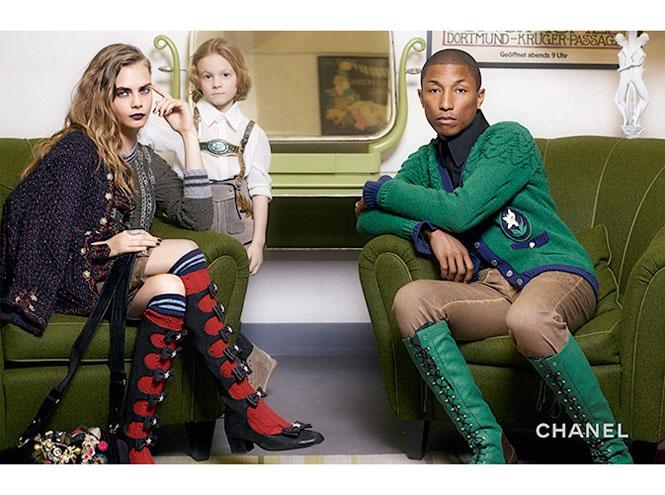 Фото №5 - Кара Дельвинь и Фаррелл Уилльямс в рекламной кампании Chanel
