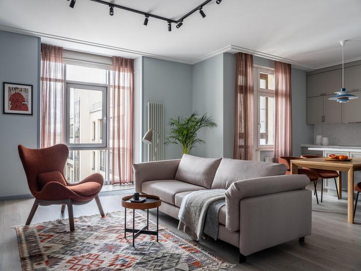 Фото №2 - Квартира 100 м² в оттенках зелени, моря, песка и заката