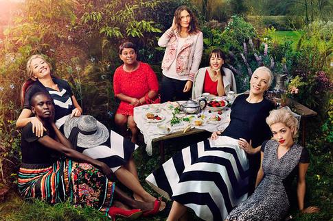 Marks & Spencer, Рита Ора (Rita Ora), актриса Эмма Томпсон (Emma Thompson), супермодель Алек Век (Alek Wek), дизайнер Лулу Кеннеди (Lulu Kennedy), шеф-повар Рейчел Ху (Rachel Khoo) и инженер Рома Агравал (Roma Agrawal)