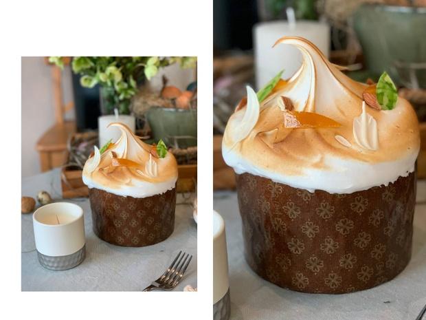 Фото №1 - Рецепт дня: пасхальный кулич с итальянской меренгой