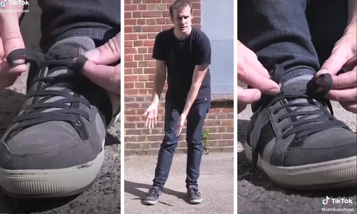 Фото №1 - Математик показал способ, как завязывать шнурки в несколько раз быстрее (видео)