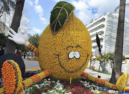 Фото №1 - Французский город Ментон открывает фестиваль цитрусовых
