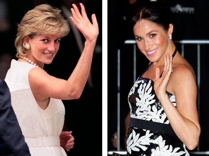 Фото №1 - Что общего у публичных выходов герцогини Меган и принцессы Дианы