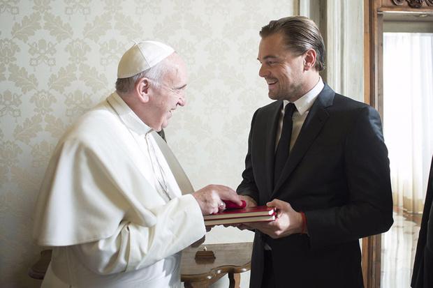 Папа Римский и Леонардо Ди Каприо