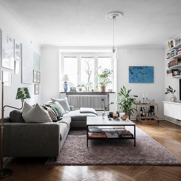 Фото №5 - Гостиная в скандинавском стиле: советы по декору и оформлению