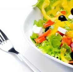 Нежный салат с фетой