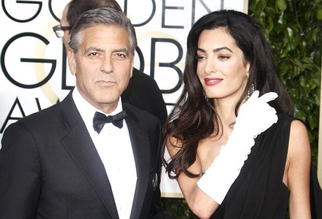 Джордж и Амаль Клуни, фото