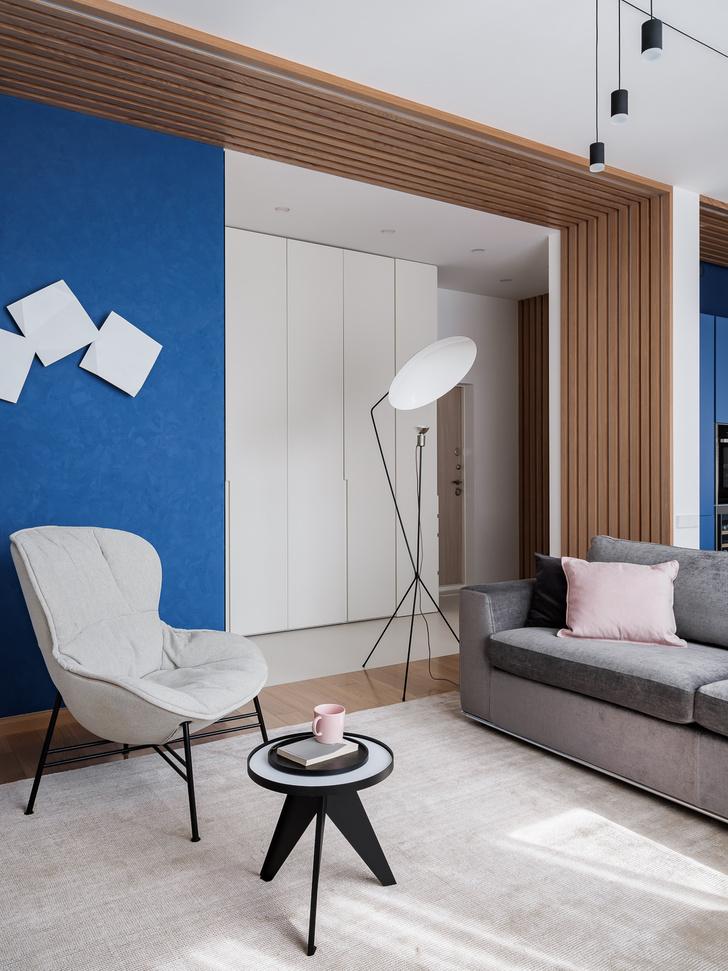 Фото №6 - Квартира 78 м² со стальной мозаикой на кухне