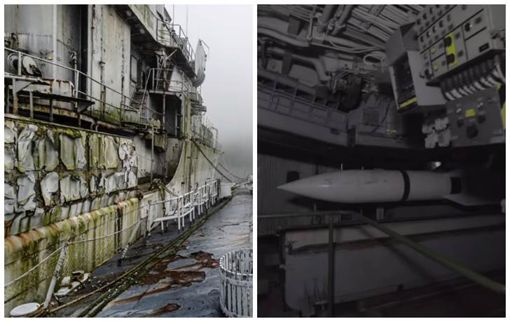 Фото №1 - Как выглядит кладбище французских военных кораблей внутри и снаружи (видео и фото)