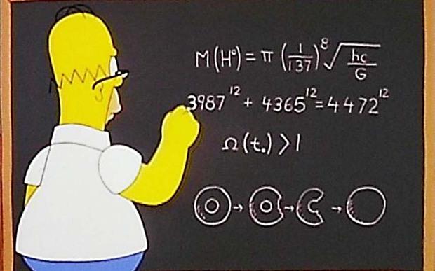 Фото №1 - Гомер Симпсон рассчитал массу бозона Хиггса за десять лет до ученых