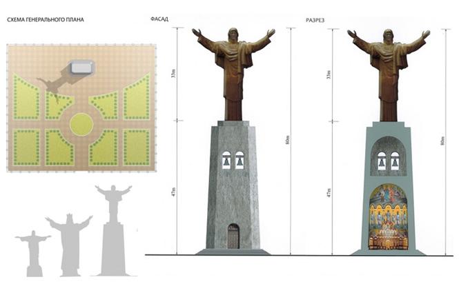 Фото №3 - Куда ставить будем: судьба 83-метрового Иисуса Христа работы Церетели