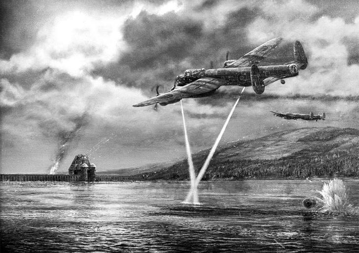 Фото №3 - Операция «Порка»: как британцы бомбили дамбы Третьего рейха «прыгающими» бомбами
