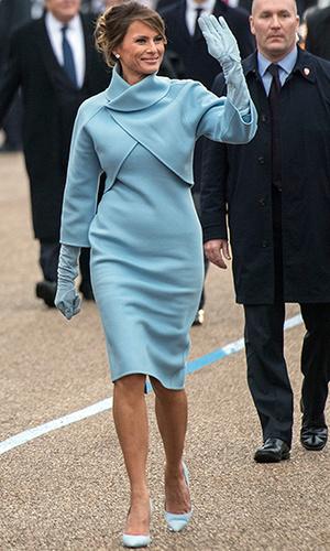 Фото №4 - Рождение fashion-звезды: Мелания Трамп на инаугурации