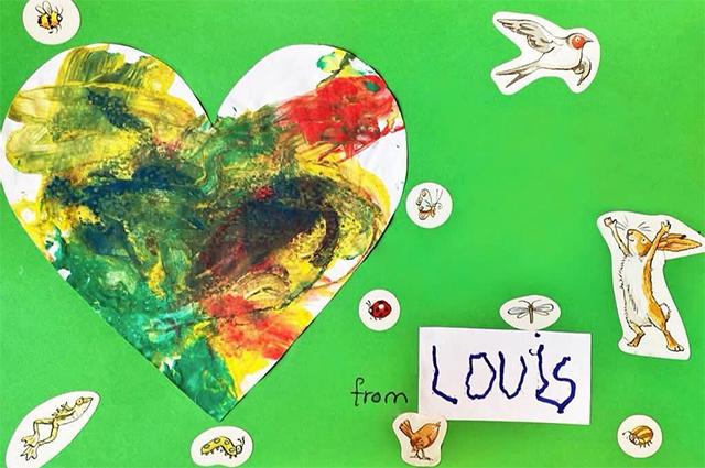 Фото №4 - Дети принца Уильяма и Кейт Миддлтон нарисовали трогательные открытки в память о принцессе Диане