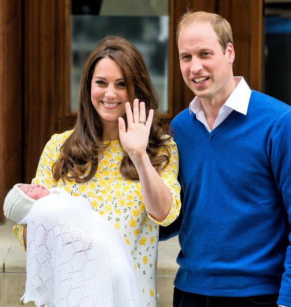 Кейт Миддлтон, принц Уильям, новорожденная Шарлотт