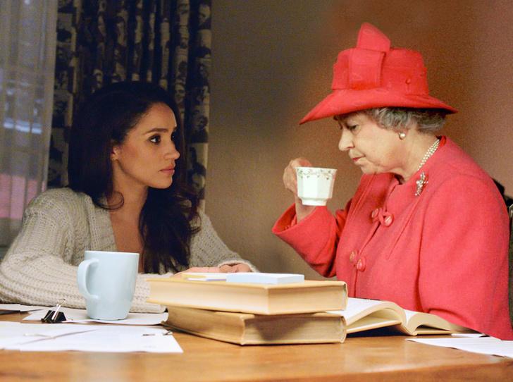 Фото №1 - Меган Маркл приехала на чай к королеве
