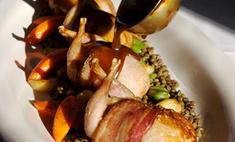 Перепелки под виноградно-коньячным соусом