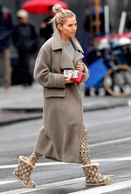 Сиенна Миллер в Нью-Йорке