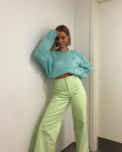 Фото №1 - Как носить цветные джинсы— тренд весны 2021