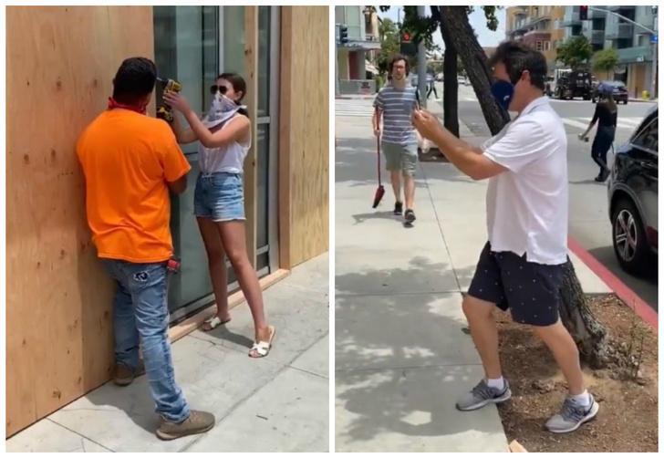 Фото №1 - Американскую журналистку поймали на съемке постановочного фото с собой во время протестов и уволили (видео)