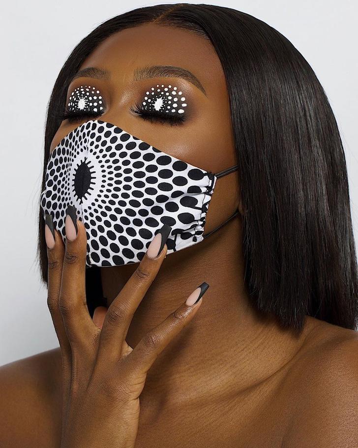 Фото №3 - Посткарантинный тренд: макияж под цвет маски