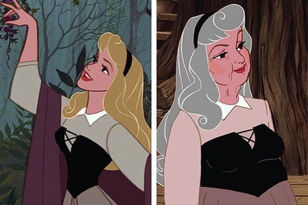 Фото №2 - Как принцессы Disney выглядели бы в старости?