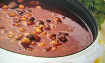 Быстрый суп из трех бобовых