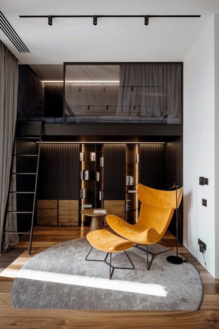Фото №8 - Квартира 136 м² с бетонным потолком в Москве