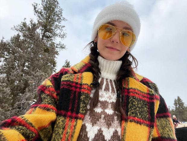 С чем сочетать свитер с норвежскими узорами: показывает Нина Добрев