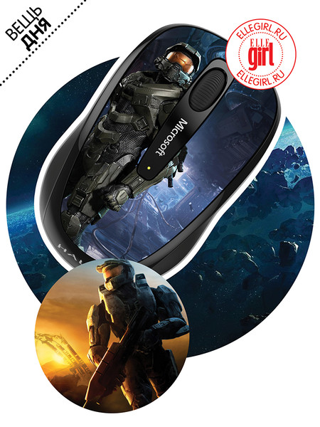 Компьютерная мышь, Wireless Mobile Mouse 3500 Halo Limited Edition: The Master Chief