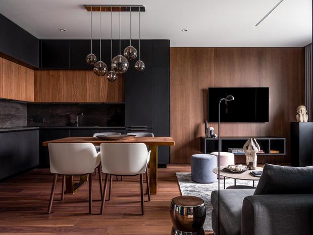 Фото №5 - Современная квартира со свободной планировкой 120 м²