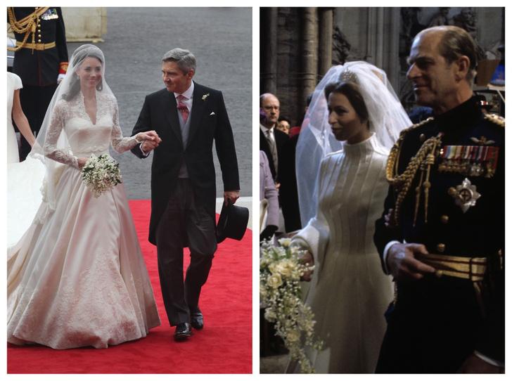 Фото №1 - Папины дочки: самые трогательные фото королевских невест с отцами