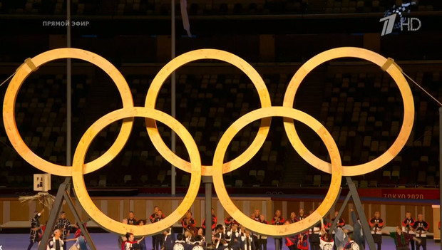 Фото №3 - Танцы ча-ча-ча, выступление актеров кабуки: как прошло открытие Олимпиады-2020 [прямая трансляция]