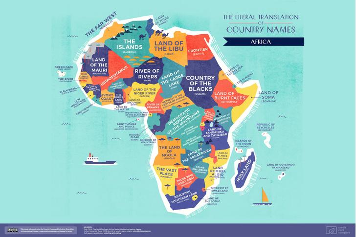 Фото №3 - Опубликована карта мира с буквальным переводом названий стран