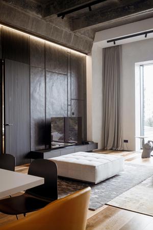 Фото №6 - Квартира 136 м² с бетонным потолком в Москве