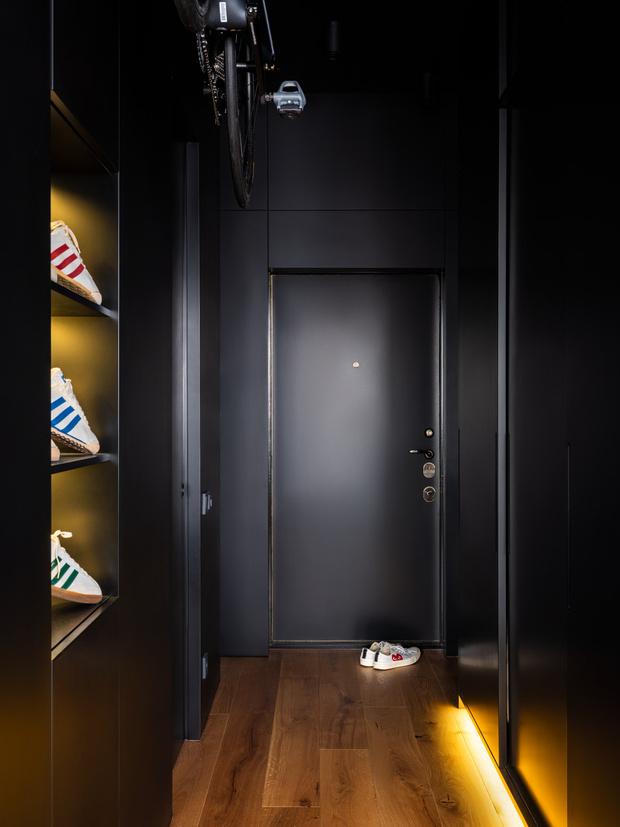 Фото №7 - Маленькая квартира в оттенках черного и серого
