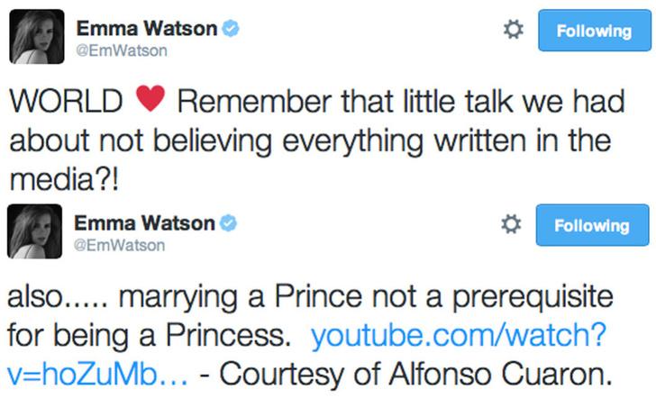 Фото №1 - Отбой: Эмма Уотсон не встречается с принцем Гарри