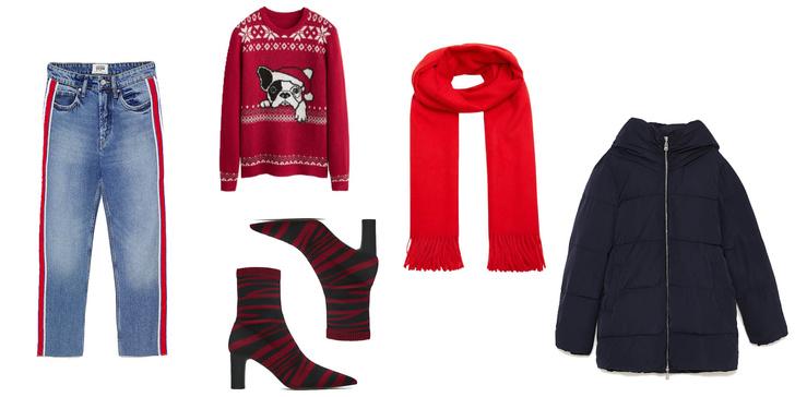 Фото №1 - Фэшн-идея: три крутых лука с рождественскими свитерами