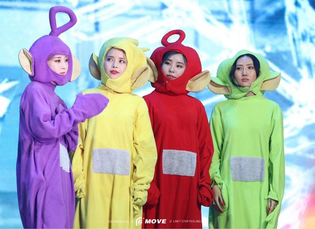 Фото №1 - Помнишь, как MAMAMOO пришли на премию в костюмах Телепузиков?