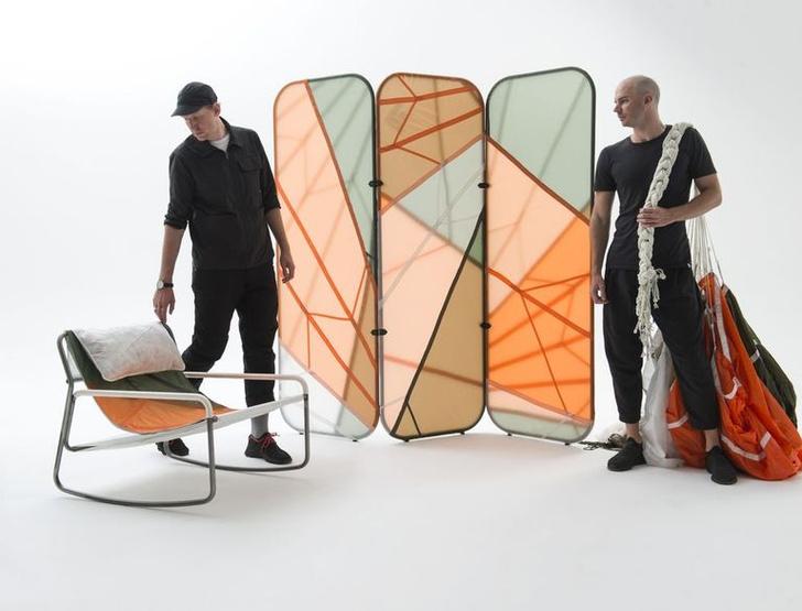 Фото №1 - Мебель из старых парашютов