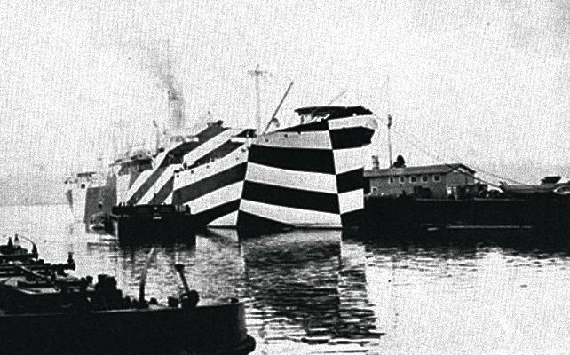 Американское грузовое судно вкамуфляже, 1918г.
