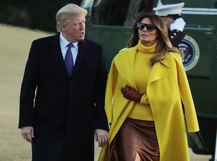 Фото №4 - Из моделей в первые леди: как Мелания Трамп изменилась за 3 года в Белом доме