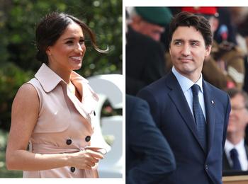 Герцогиня Меган поделилась архивным фото с премьер-министром Канады