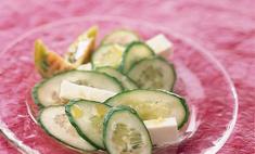 Салат из огурцов с сыром фета