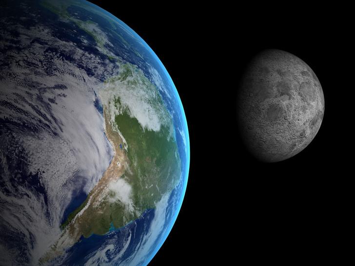 Фото №1 - Луна сформировалась из-за катастрофы на Земле