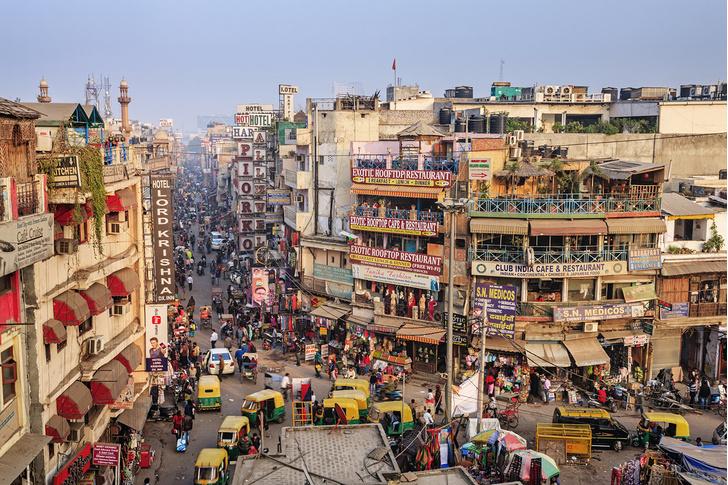 Фото №2 - Индия с воздуха выглядит даже страшнее России