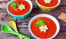 Крем-суп из запеченной тыквы счипсами из адыгейского сыра