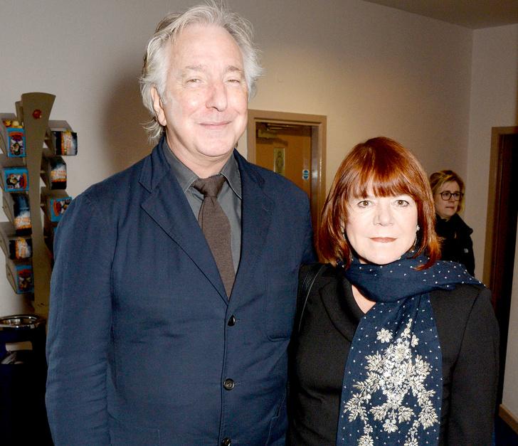 Алан Рикман с супругой Римой Хортон