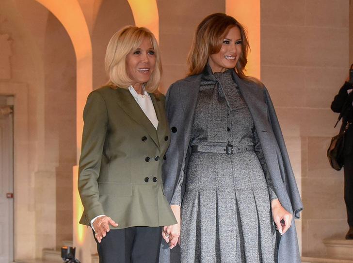 Фото №7 - 18 фотографий Брижит Макрон и Мелании Трамп, доказывающих, что их дружба – это серьезно